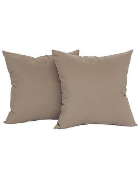 "Mainstays Microfiber Twill Accent Decorative Throw Pillow, 17"" X 17"", Brownstone, 2 Pack by Mainstays"