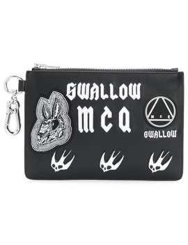 Applique Clutch Bag by Mc Q Alexander Mc Queen
