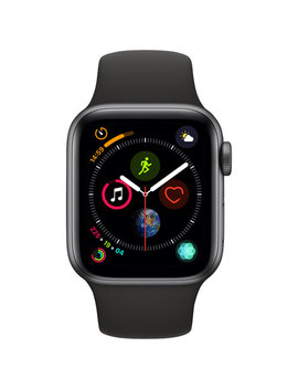Apple Watch Series 4 (Gps) 40mm Space Grey Aluminium Case With Black Sport Band by Apple