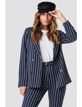 Navy Striped Blazer Navy by Na Kd
