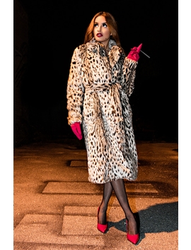 Put It On My Card Leopard Coat by Akira
