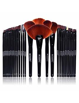 Shany Professional Brush Set With Leather Look Pouch, 32 Count Goat & Badger. by Shany Cosmetics