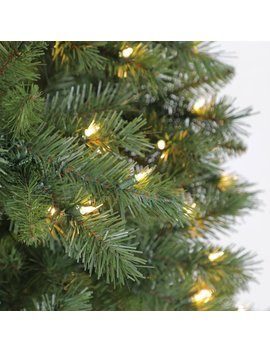 Holiday Time 7.5ft Pre Lit Kennedy Fir Artificial Christmas Tree With 450 Clear Lights   Green by Holiday Time