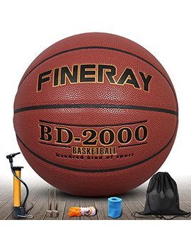 Daping Basketball Outdoor Indoor Official Size 7, Street Basketballs 29.5 Game Ball With Pump, Needles, Net, Wrist And Carrying Bag by Daping