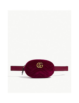 Gg Velvet Belt Bag by Gucci