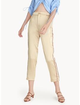 Striped Side Satin Pants by Pomelo
