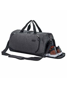 Sport Gym Bag Travel Duffel Bag With Shoe Compartment And Dry Wet Separation Layer For Men & Women by Tmount
