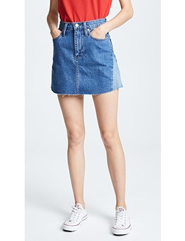 Reconstructed Jean Miniskirt by Madewell