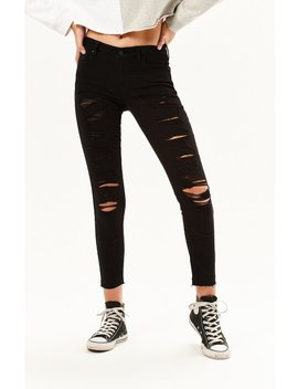 Kendall + Kylie Low Rise Ankle Skinny Jeans by Pacsun