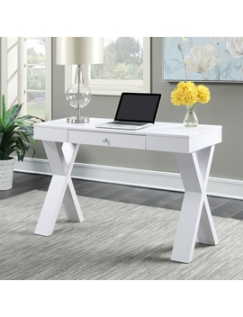 Convenience Concepts Newport Transitional White Writing Desk by Lowe's