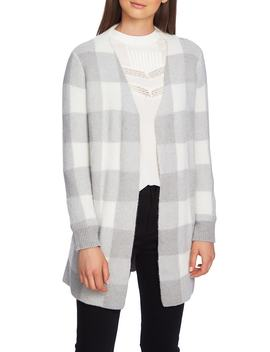 Plaid Jacquard Cardigan by 1.State