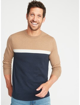 Color Blocked Crew Neck Sweater For Men by Old Navy