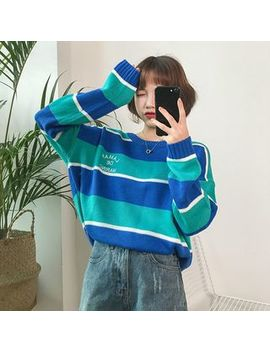 Minerva   Striped Sweater by Minerva