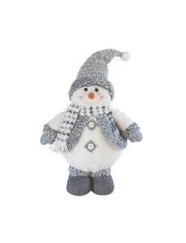 "Holiday Gray Standing 15"" Snowman Floor Decor by Kohl's"
