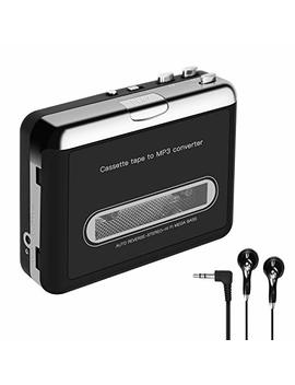 Cassette Player, Portable Walkman Cassette Tape Player Recorder To Mp3 Converter Cd Music Tapes Recorder Via Usb Compatible With Laptops & Pc With Earphones by Antogoo
