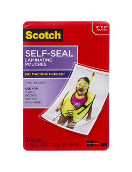 "Scotch Self Seal Laminating Pouches   4"" X 6"" by Hobby Lobby"