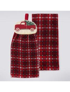 St. Nicholas Square® Truck Tie Top Kitchen Towel 2 Pack by St. Nicholas Square