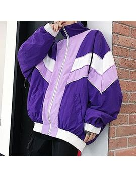 Bjorn   Color Block Windbreaker by Bjorn