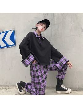 Porstina   Plaid Panel Pullover / Plaid Pants by Porstina