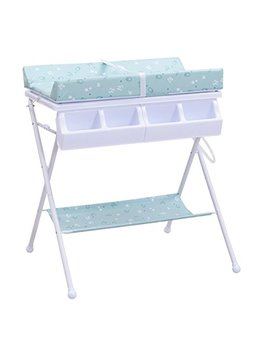 Costzon Baby Changing Table, Folding Diaper Station Nursery Organizer For Infant (Blue) by Costzon