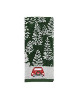St. Nicholas Square® Farmhouse Christmas Tree Truck Hand Towel by St. Nicholas Square