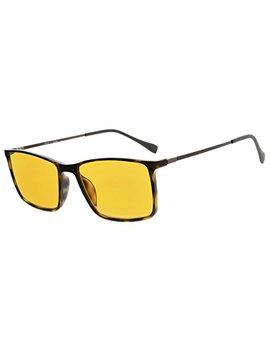 Eyekepper Mens 97 Percents Blue Blocking Eyeglasses,Dark Orange Lens With Anti Reflective Coating Computer Eyewear (Tortoise, 0.00) by Eyekepper