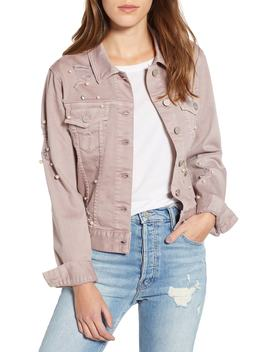 Alissa Embellished Colored Denim Jacket by Dear John Denim