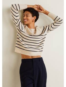 Striped 100 Percents Cashmere Sweater by Mango