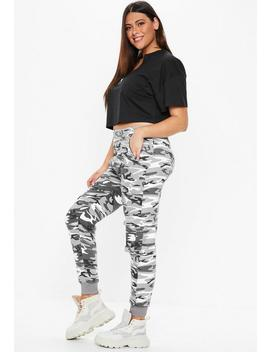 Plus Size Grey Camo Joggers by Missguided