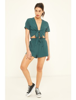 Luck & Trouble Wrappy Top Green by Universal Store