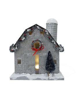 St. Nicholas Square® Light Up Barn Christmas Table Decor by St. Nicholas Square