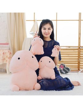 Creative Dingding Throw Pillow Kawaii Healing Plush Toy Dolls Fun Joke Festival Gift 4 Sizes by Newchic