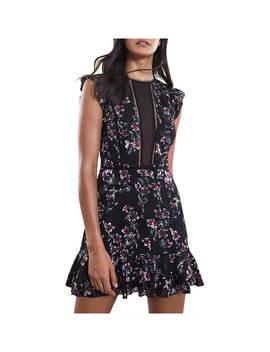 Reiss Alexandra Floral Dress, Black by Reiss