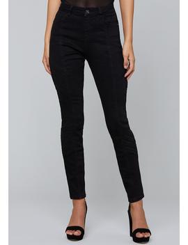 Dayne Seamed Skinny Jeans by Bebe