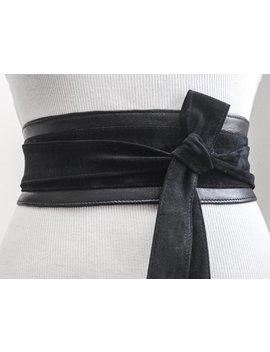 Black Suede Belt | Black Suede Obi Belt | Waist Belt | Sash Tie Belt | Womens Leather Belt| Handmade Belt | Plus Size Belts by Etsy