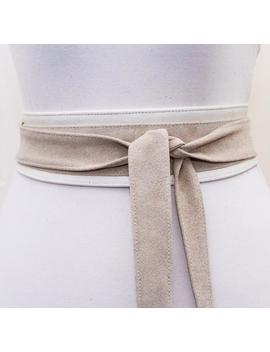 Cream Suede Belt |Cream Suede Obi Belt | Waist Belt | Sash Tie Belt | Womens Leather Belt| Handmade Belt | Plus Size Belts by Etsy