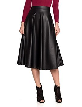 Women's J2 Love Faux Leather Flare Skirt by Cemi Ceri