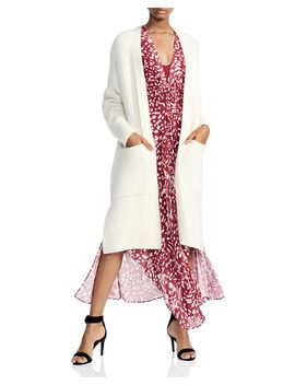 Mars Open Front Long Line Cardigan by Maje