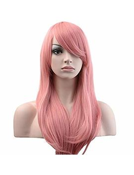 "Yopo 28"" Wig Long Big Wavy Hair Women Cosplay Party Costume Wig(Pink) by Yopo"