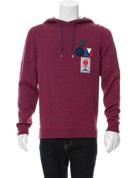Louis Vuitton Logo Applique Hooded Sweatshirt by Louis Vuitton