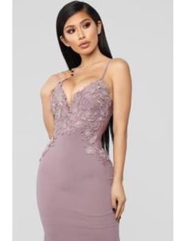 It's A Date Embroidered Gown   Mauve by Fashion Nova