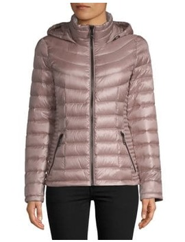 "The Coat Edit 25"" Short Packable Jacket by Calvin Klein"