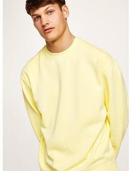 Washed Yellow Sweatshirt by Topman