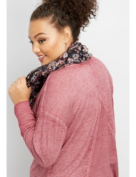 Plus Size 24/7 Ribbed V Neck Tee by Maurices