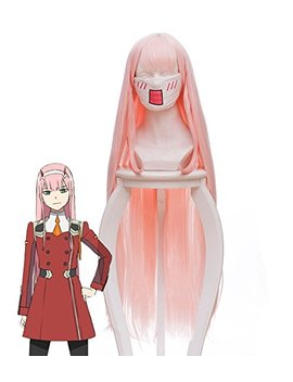 Darling In The Franxx Zero Two Code 002 Cosplay Wig Cosplay Costume Pink Hair by Telacos