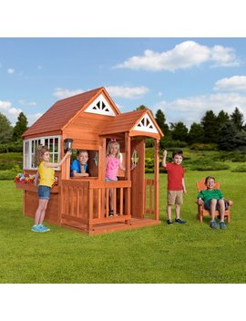 Backyard Discovery Deluxe Cedar Mansion Outdoor Wooden Playhouse by Backyard Discovery