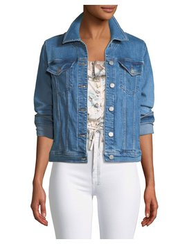 Slim Button Front Denim Jacket by J Brand
