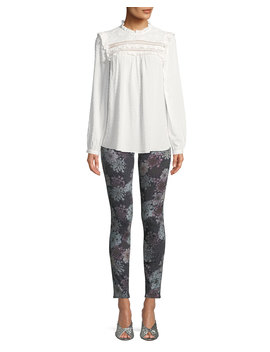 620 Floral Print Mid Rise Super Skinny Jeans by J Brand
