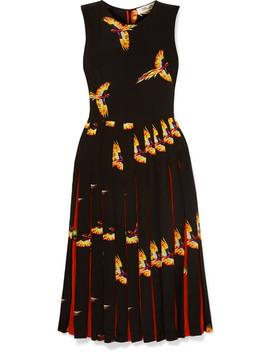 Talita Pleated Printed Silk Crepe De Chine Dress by Diane Von Furstenberg