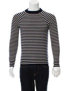 Saint Laurent Crew Neck Striped Sweater by Saint Laurent